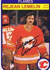 Rejean Lemelin 1982 OPC Autograph #50 Bruins