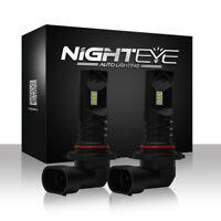 NIGHTEYE 9005 HB3 Bright LED Fog Driving Lamp DRL Tail Light Bulbs White 1600LM