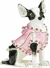 Ciel Collectible Chihuahua Dog Doggy Swarowski Jeweled Trinket Jewelry Box