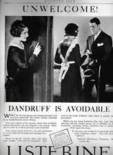c1927 Listerine Antiseptic Dandruff Relief Health Beauty Hair Care Vintage Ad