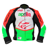Aprilia RSV4 Motorbike Racing Leather Jacket Red/white custom size available,
