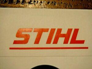 "STIHL Orange Custom Chainsaw blower weedeater Lettering Sticker Decal 5/8"" x 2.5"