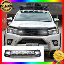 Front Grill Grille LED Black DRL to suit Toyota Hilux Workmate SR SR5 2015-2018