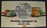 1956 Chevrolet Truck Mailer Brochure Folder Stake Box COE Excellent Original 56