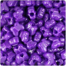 *3 FOR 2* 50 Plum Neon Bright Butterfly Shape 13mm Highest Quality Pony Beads
