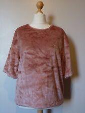 H&M Faux Fur Short Sleeve Top Size Medium 14/16 Uk BNWT RRP £28.98 Light Pink