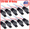 10* 12V 30/40A Fuse Relay Switch Harness Set SPST 4Pin 14 AWG Hot Wires US Stock