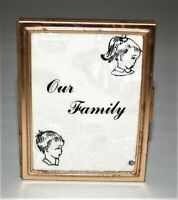 Vintage 1950s Mini 'Our Family' Metal Compact Photo Album, Very Rare
