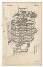 1764 THOMAS JEFFERYS Copper Engraving London Bridge WATERWORKS plate 298