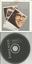 ELTON JOHN w/ RARE LIVE TRK & Snippets Europe NEWSPAPER PROMO CD USA seller 2001