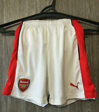 Arsenal FC Gunners White Training Football Soccer Shorts Puma Youth Size L