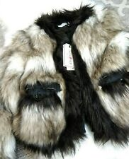 Brand New With Tag Lanvin X H&M Faux Fur Jacket Size US 4 UK 4 EU 34