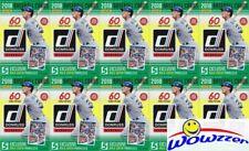(10)2018 Donruss Baseball HUGE Factory Sealed HANGER Box-600 Card-HOLO PARALLEL