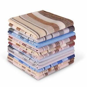 Ohuhu 100% Pure Cotton Handkerchiefs for Men, 12 Piece Gift Set 4 Color Hankies