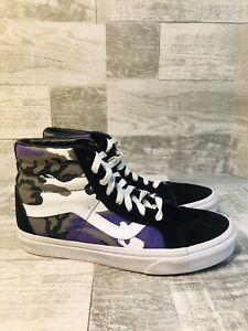 Vans Off The Wall SK8 Sneakers Purple Camo High Tops Men's Sz 6.5 Womens Sz 8