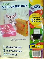 "Zumibox Diy Tuck End Box~12 Pre-cut Printable Box~ Assembled Size Box 3.5""X1""X4"""