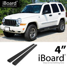 Running Board Side Step Nerf Bars 4in Black Fit Jeep Liberty 02-07
