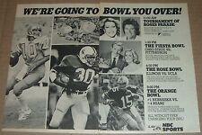 1983 TV AD~UCLA BRUINS ROSE BOWL RICK NEUHEISEL~MIKE ROZIER NEBRASKA~ROSE PARADE