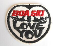 Vintage Boa Ski I Love You Snowmobile Advertising Cloth Patch