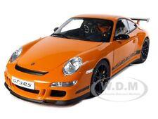 PORSCHE 911 (997) GT3 RS ORANGE 1:12 DIECAST MODEL CAR BY AUTOART 12117
