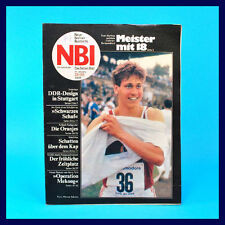 DDR-Zeitschrift NBI 28/1988 - Fussball-EM Seglerinnen von Katte Prenzlauer Berg