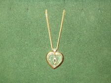 "STAR CRYSTAL *NEW* Pendentif Coeur Lettre ""O"" chaîne dorée Pendant crystal/gold"