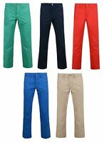 ESPRIT New Men's Chino Slim Fit Trousers Green & Blue Light Cotton Summer Pants