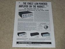 Dynaco Tube Annuncio,1965,FM-3,Stereo 35,PAS-3 Preamplificatore,Articolo,1 Page,