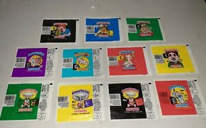 Lot of 11 Different Topps 1986-1988 Original Garbage Pail Series Wrappers EX/MT