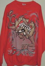 Warner Bros Vintage TAZ Freeze 90s Looney Tunes Red Crewneck Sweatshirt Size XL