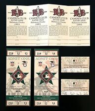 1993 MLB ALL STAR BASEBALL GAME TICKETS LOT OF 2 BALTIMORE ORIOLES CAMDEN YARDS