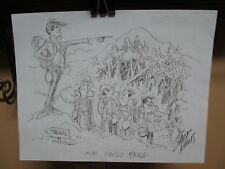 Jack Davis Sketch Scout Master Possibly Mark Trade w/ Scouts