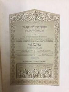 Ancienne Revue générale de l'architecture et des travaux publics (1840 à 1854)