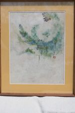 "Watercolor on Rice paper, ""Misty,"" Tseng-Ying Pang, Chinese-American"