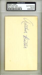 "Arthur ""Artie"" Butler Autographed 3x5 Index Card Cardinals PSA/DNA 83935973"