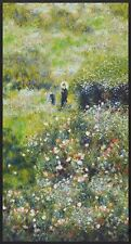 Renoir - Garden-Digital Print Panel-Robert Kaufman-Trees-Flowers-Garden