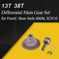 13T 38T Metal Crown Differential Main Gear Set for Front/ Rear Axle AXIAL SCX10