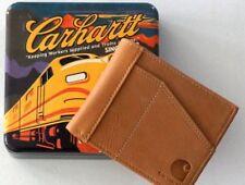 CARHARTT Pocket Passcase Bifold Cognac Leather Wallet Credit Card Organizer New