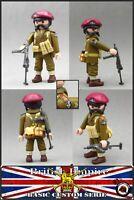 Playmobil Custom WW2 BRITISH PARATROOPER 2ª GUERRA MUNDIAL SOLDADO INGLES ARMAS
