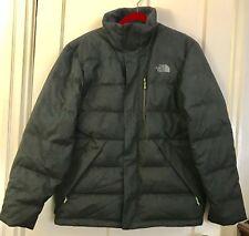 NORTH FACE SUMTER Charcoal Grey Tweet Goose Down Winter Jacket Coat Men's M NWOT