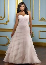 Lace Plus Size A-line Organza Wedding Dresses