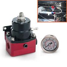 Professional Adjustable Fuel Pressure Regulator+160psi Gauge AN6 Fitting End New