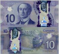CANADA 10 DOLLARS 2013 / 2015 POLYMER P 107 WILKINS POLOZ UNC