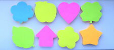STICKY NOTES BLOCK STICKY NOTE MEMO PAD POST ITS (STAR HEART APPLE LEAF HOUSE)
