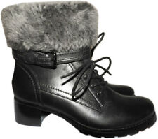 BLONDO Shearling Fur Lined Leather Weather Boots Fiory Winter Ankle Booties 9