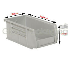 10 x STRONG PLASTIC STORAGE STACKING PARTS PICKING BINS BOXES -SIZE 106x106x49mm