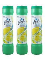 3 x Glade Shake n' Vac Carpet Freshener Fresh Lemon Fragrance Powder 500g New