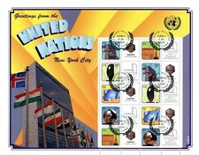 United Nations UN Personalized Sheet S31 Int'l Napex Expo V1 First Day Cancel