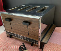 VTG 1970s General Electric Toaster, 4 Slot Wood Grain, Dual Control Works Great!