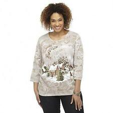 Holiday Edt Embellished Plus Size 3X Tshirt Tee Christmas Xmas Top Blouse NEW